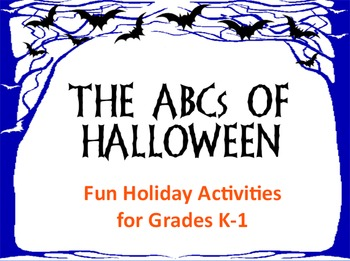 The ABCs of Halloween - A Fun Holiday Activity Flipchart