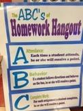 The ABC's of Homework Hangout