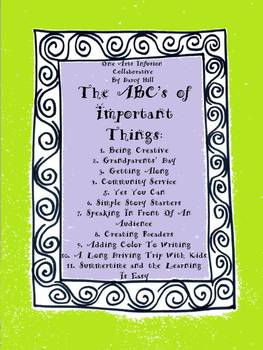 The ABC's of Important Things: 37 Pages of Creative Ideas