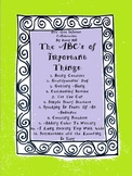 The ABC's of Important Things: 40 Pages of Creative Ideas