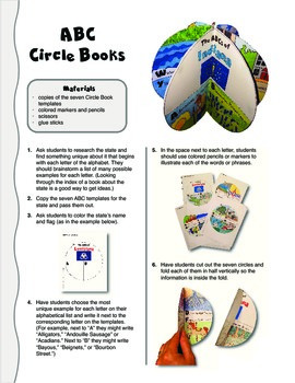 The ABCs of Indiana: A Circle Book Foldable by GravoisFare