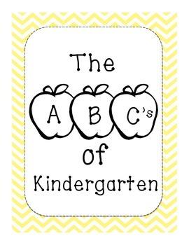The ABC's of Kindergarten