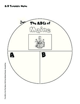 The ABCs of Maine: A Circle Book Foldable by GravoisFare