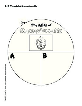 The ABCs of Massachusetts: A Circle Book Foldable by GravoisFare