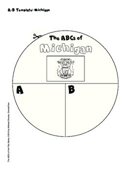 The ABCs of Michigan: A Circle Book Foldable by GravoisFare