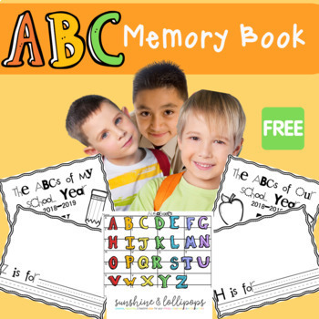 Freebie End of Year ABC's of School Can to be Used Anytime Updated for 2018