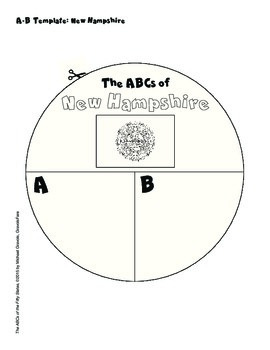 The ABCs of New Hampshire: A Circle Book Foldable by GravoisFare