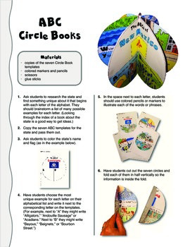 The ABCs of New Mexico: A Circle Book Foldable by GravoisFare