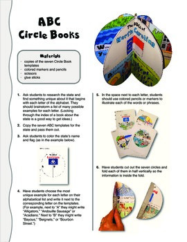 The ABCs of North Carolina: A Circle Book Foldable by GravoisFare