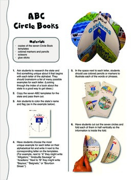 The ABCs of Oklahoma: A Circle Book Foldable by GravoisFare
