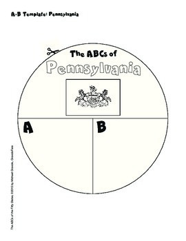 The ABCs of Pennsylvania: A Circle Book Foldable by GravoisFare