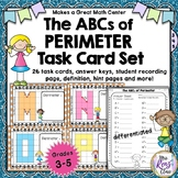 Perimeter of the Alphabet Task Cards  with Answer Keys