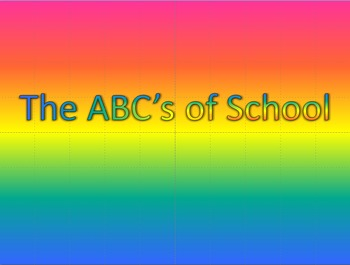 The ABC's of School PowerPoint