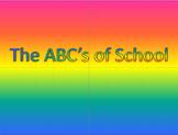 The ABC's of School PowerPoint
