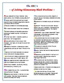 The ABC's of Solving Elementary Math Problems