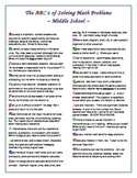 The ABC's of Solving Math Problems - Middle School