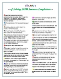 The ABC's of Solving SAT Sentence Completions