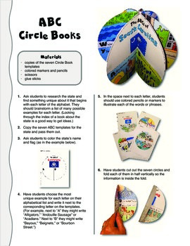 The ABCs of South Carolina: A Circle Book Foldable by GravoisFare