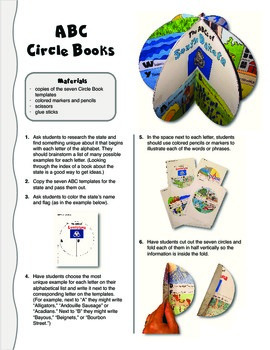 The ABCs of South Dakota: A Circle Book Foldable by GravoisFare