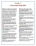 The ABC's of Successful Study Skills
