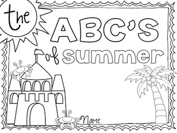 photograph regarding Abc Book Printable identified as The ABCs of Summer months Kinder/1st Printable Ebook Close of 12 months Software