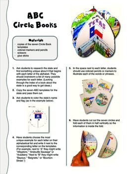 The ABCs of Texas: A Circle Book Foldable by GravoisFare
