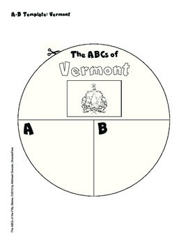 The ABCs of Vermont: A Circle Book Foldable by GravoisFare