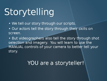 The ABC's of Videography (Television/Film Production)