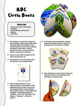 The ABCs of Washington: A Circle Book Foldable by GravoisFare