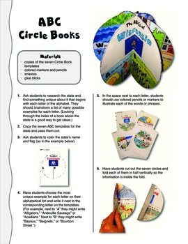 The ABCs of Wisconsin: A Circle Book Foldable by GravoisFare