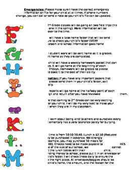 The ABC's of Your Class