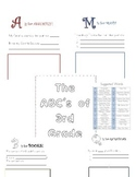 End of the Year Memory Book ( The ABC's of __ Grade)