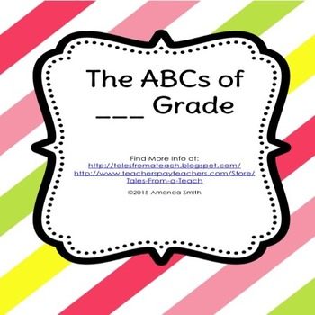The ABCs of ___ Grade: Familiarizing Your Students With Your Class
