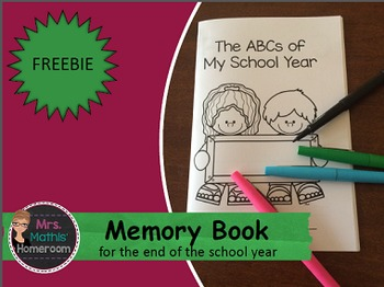 The ABCs of my School Year - Memory Book for the End of the Year