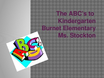 The ABC's to Kindergarten Powerpoint