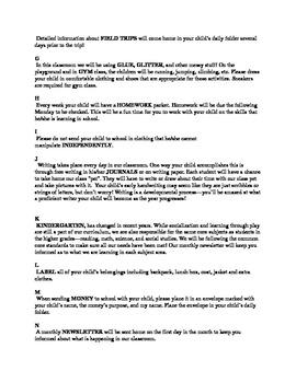 The ABC's to My Classroom- Editable