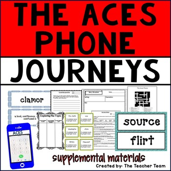 The ACES Phone Journeys 6th Grade Unit 1 Lesson 4 Activities and Printables