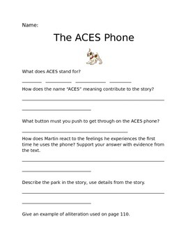 The ACES Phone Questions (Journeys Common Core Grade 6 Unit 1 Lesson 4)