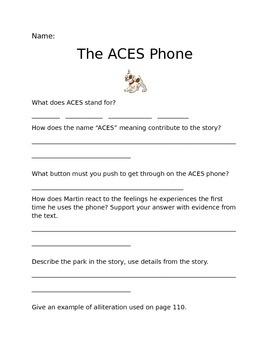The ACES Phone Questions (Journeys Common Core Grade 6 Unit 1 Lesson 4)