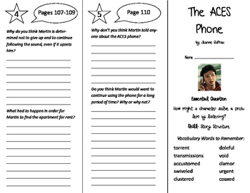 The ACES Phone Trifold - Journeys 6th Grade Unit 1 Week 4 (2011)