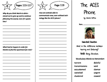 The ACES Phone Trifold - Journeys 6th Grade Unit 1 Week 4 (2014, 2017)