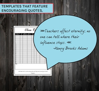Editable Binder w/ Encouraging Teacher Quotes | FREE UPDATES | 2018 - 2019