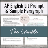 The AP Lit Prompt and Sample Paragraph