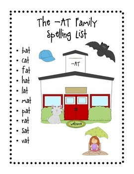 The - AT Family Spelling Activitites