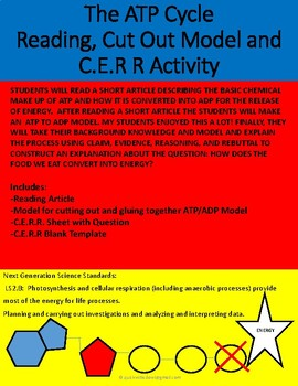 The ATP Cycle  Reading, Cut Out Model and C.E.R R Activity