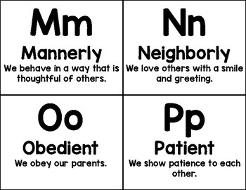 The Abc's of good character