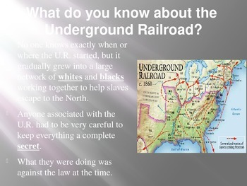 The Abolitionists and the Underground Railroad