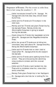 The Abominable Snowman Doesn't Roast Marshmallows (Bailey School) Novel Study
