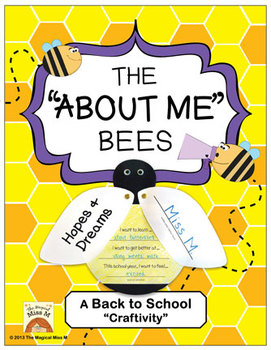 The About Me Bees: A Back to School Craftivity!