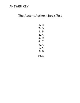 The Absent Author Final Book Test